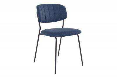 Dizajnová stolička Rosalie modrá