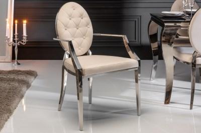 Dizajnová stolička s opierkami Rococo II béžová