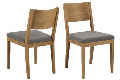 Dizajnová stolička Tomas sivá - prírodná