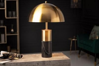 Dizajnová stolová lampa Aamira 52 cm čierno-zlatá