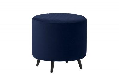 Dizajnová taburetka Hallie 45 cm modrý zamat