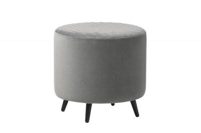 Dizajnová taburetka Hallie 45 cm sivý zamat
