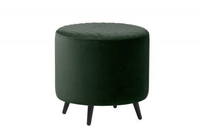 Dizajnová taburetka Hallie 45 cm zelený zamat