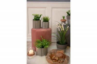 Dizajnová taburetka Kiera, ružový zamat