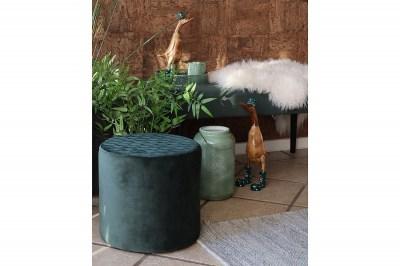 Dizajnová taburetka Kiera, zelený zamat