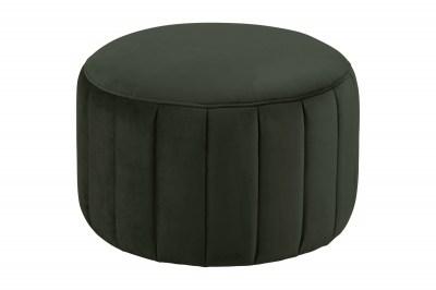 Dizajnová taburetka Naomika, tmavo zelená