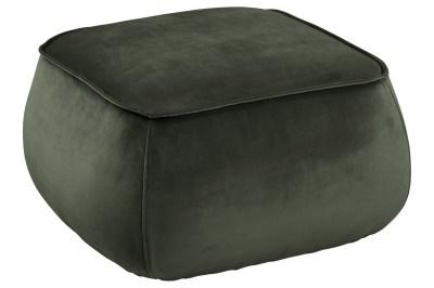 Dizajnová taburetka Nara, tmavo zelená kocka
