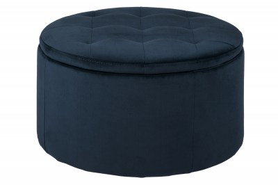 Dizajnová taburetka Nasima, navy modrá
