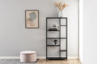 Dizajnová taburetka Nasima, svetlo ružová