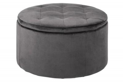 Dizajnová taburetka Nasima, tmavo šedá