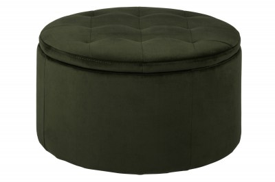 Dizajnová taburetka Nasima lesno zelená