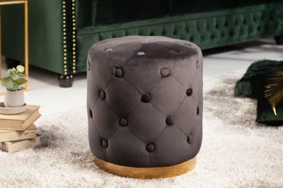 Dizajnová taburetka Rococo 36 cm čierna