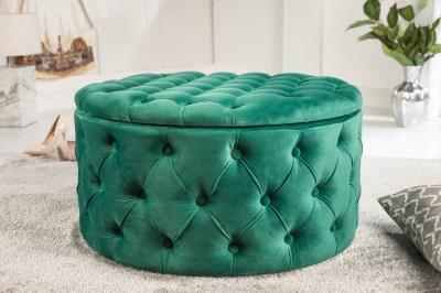 Dizajnová taburetka Rococo 75 cm zelená