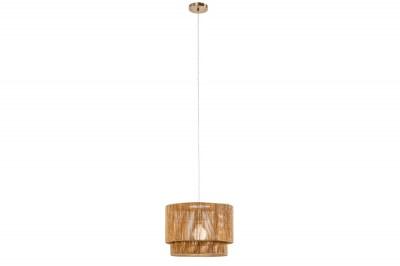 Dizajnová závesná lampa Desmond 39 cm papierový ratan