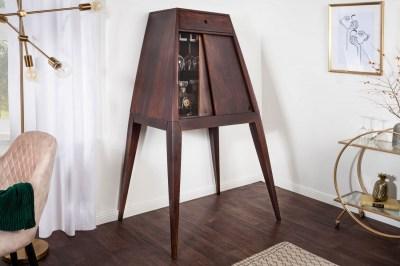 Dizajnová barová skrinka Tori 150 cm hnedá sheesham