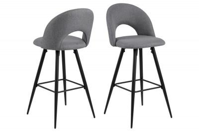 Dizajnová barová stolička Jaylene sivá
