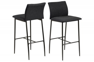Dizajnová barová stolička Midena II sivá