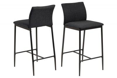 Dizajnová barová stolička Midena sivá
