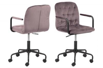 Dizajnová kancelárska stolička Zara ružová