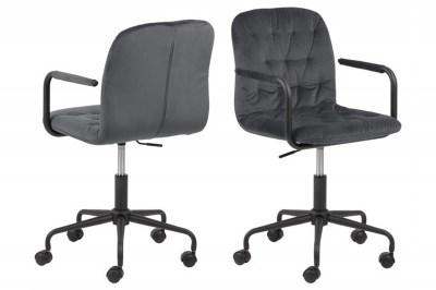 Dizajnová kancelárska stolička Zara tmavosivá