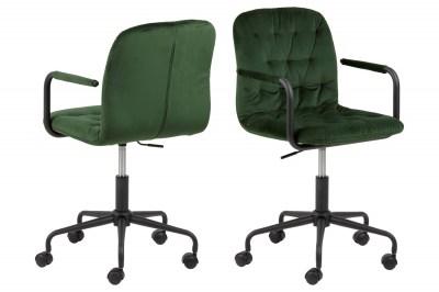 Dizajnová kancelárska stolička Zara zelená