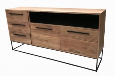 Dizajnová komoda Malakai 165 cm prírodná - akácia