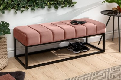 Dizajnová lavica Halle 110 cm zamat - staroružová