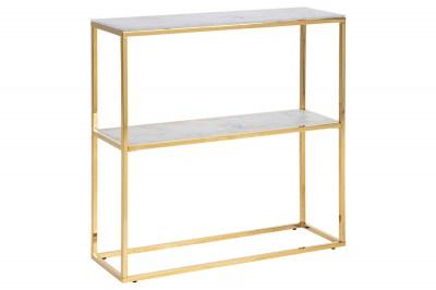 Dizajnová polica Agostino 79 cm zlatá - sklo