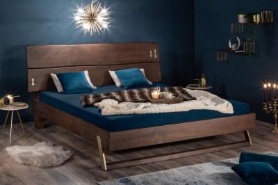 Dizajnová posteľ Massive 160 x 200 cm akácia vinegar