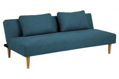 Dizajnová rozkladacia sedačka Amya 180 cm petrol zelená - dub