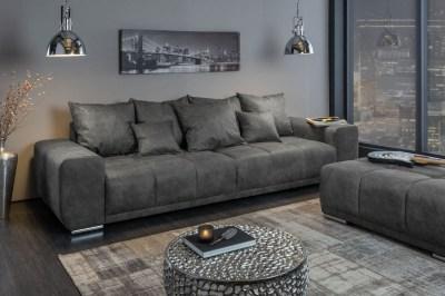 Dizajnová sedačka Cason 280 cm antik sivá