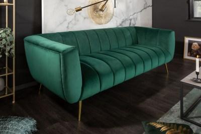 Dizajnová sedačka Nikolai 225 cm smaragdovozelená