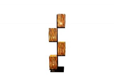 Dizajnová stojanová lampa Leonel 149 cm longan