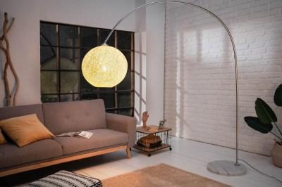 Dizajnová stojanová lampa Omari 205 biela
