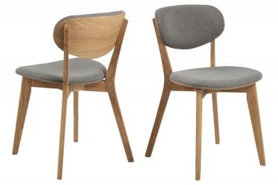 Dizajnová stolička Aidyn sivá - prírodná