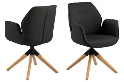 Dizajnová stolička Ariella čierna - prírodná