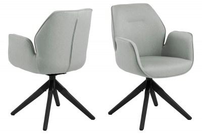 Dizajnová stolička Ariella sivá - čierna