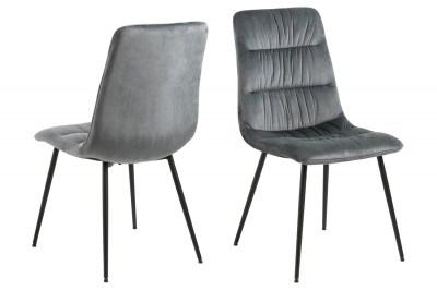 Dizajnová stolička Charley tmavosivá