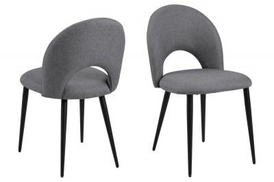 Dizajnová stolička Jaylene sivá
