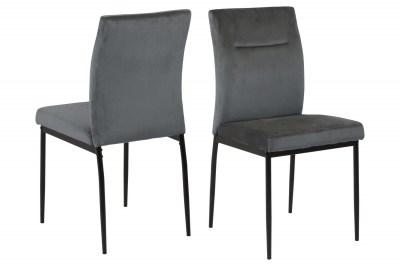 Dizajnová stolička Kassandra tmavosivá
