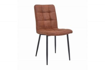 Dizajnová stolička Modern vintage hnedá