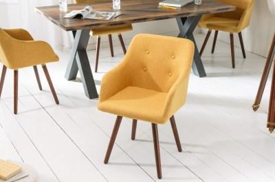 Dizjanová stolička Sweden Master horčicovožltá