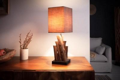 Dizajnová stolná lampa Desmond 45 cm hnedá - ironwood