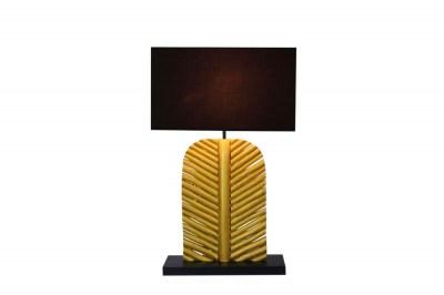 Dizajnová stolná lampa Lance 63 cm čierno zlatá - longan
