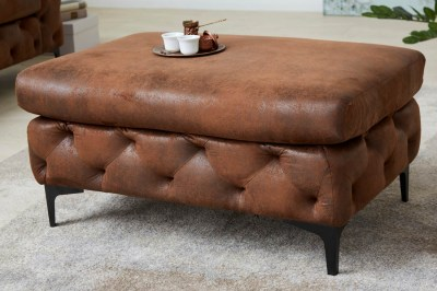 Dizajnová taburetka Rococo antik hnedá