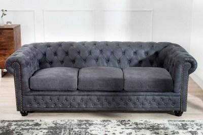 Dizajnová trojsedačka Chesterfield II 200 cm antik sivá