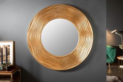 Dizajnové nástenné zrkadlo Dalton 100 cm zlaté