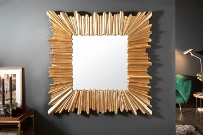 Dizajnové nástenné zrkadlo Kathleen 96 cm zlaté