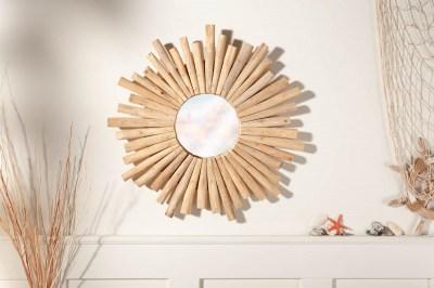 Dizajnové nástenné zrkadlo Kenley 60 cm teak