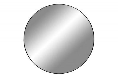 Dizajnové okrúhle zrkadlo Cara s čiernym rámom 100 cm